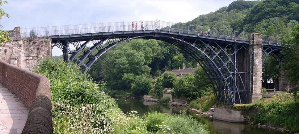 A picture of the Iron Bridge, in Ironbridge, Shropshire